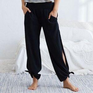 aerie wide leg tie pants